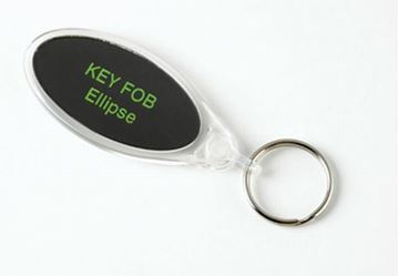 Picture of IE02 Ellipse Clear Acrylic Keyring